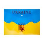 Папка-конверт на кнопке Buromax пластиковая Ukraine А4 Желтый (BM.3955-08)