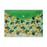 Папка-конверт на кнопке Buromax пластиковая Lemons А4 Салатовый (BM.3955-15)