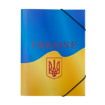Папка на резинках Buromax пластиковая Ukraine B5 Желтая (BM.3959-08)