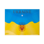 Папка-конверт на кнопке Buromax пластиковая Ukraine B5 Желтый (BM.3956-08)