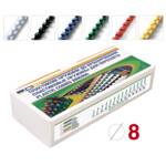 Пружины пластиковые D&A 8 мм 100 шт желтые (1220201080206)