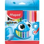 Фломастеры Maped Color Peps Ocean цветные 12 шт. в упаковке (MP.845720)