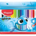 Фломастеры Maped Color Peps Ocean цветные 18 шт. в упаковке (MP.845721)