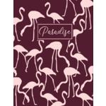 Ежедневник недатированный PARADISE, A5, 288 стр., бордовый (BM.2058-13)