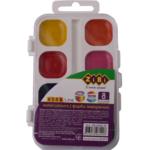 Акварельные водорастворимые  краски ZiBi на палитре, 8  цветов,  белая. KIDS Line (ZB.6542-10)