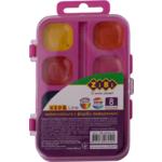 Акварельные водорастворимые краски ZiBi 8 цветов на розовой палитре Kids Line (ZB.6542-12)
