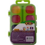 Акварельные водорастворимые краски ZiBi 8 цветов на салатовой палитре Kids Line (ZB.6542-15)
