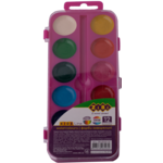 Акварельные водорастворимые краски ZiBi на розовой палитре 12 цветов Kids Line (ZB.6544-10)