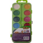 Акварельные водорастворимые краски ZiBi на палитре, 12  цветов,  салатовая. KIDS Line (ZB.6544-12)
