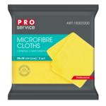 Салфетки из микрофибры PRO Service универсальные 38 х 38 3 шт жёлтые (pr.18303200)