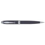 Ручка шариковая Regal с глянцевым лакированным корпусом черного цвета в пластиковом футляре Синяя (R502424.PB10.B)