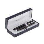 Комплект ручек Regal (перьевая и шариковая) с глянцевым лакированным корпусом черного цвета в подарочном футляре (R80200.L.BF)