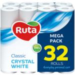 Туалетная бумага Ruta Classic 32 рулона двухслойная белая (rt.92670)