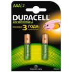 Аккумулятор Duracell AAA, 750 mAh, 2 шт (s.38769)