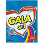 Стиральный порошок Gala 2 в 1 Яркие цвета, ручная стирка, 400 г