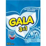 Стиральный порошок Gala 3 в 1 Морская свежесть, ручная стирка, 400 г (s.65954)