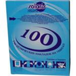 Гигиенические накладки на унитаз Solaris, 100 шт., с целлюлозы, белые (Соляр-М)