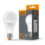 Лампа LED Videx А+ 15w E27 3000k 220v 1500 Lm (VL-A65e-15273)