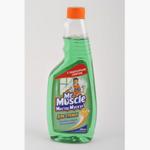 Средство для мытья стекол Mr.Muscle 0,5 л, сменный, зеленый