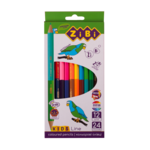 Карандаши цветные ZiBi Kids Line Double 24 цвета (ZB.2463)