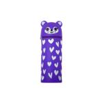 Пенал силиконовый ZiBi Енотик 19х6 см Kids Line Фиолетовый (ZB.704217)