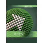 Тетрадь на пружине Buromax SPHERE А-4, 80л., клетка, картонная обложка, зеленый (BM.24452101-04)
