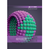 Тетрадь на пружине Buromax SPHERE А-4, 80л., клетка, картонная обложка, фиолетовый (BM.24452101-07)