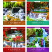 Тетрадь ученическая Мрії Збуваються Красивые водопады, 96 л, линия, (ТА5.9621.2561л)
