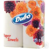 Бумажные полотенца Диво, на гильзе, 2 слоя, 2 рул, белый (рп.дв2б)