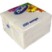 Салфетки бумажные Диво, 330х330 мм, белые, 100 шт (сп.дв33х33/100)
