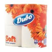 Туалетная бумага Диво Soft, 4 рул, на гильзе, 2 слоя, белый (тп.дв4б)