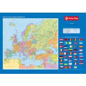 Подкладка для письма с карманом Panta Plast Карта Европы, PVC, 590х415 мм (0318-0037-99)