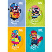Блокнот на пружине сверху Zibi Kids Line, А6, 40л., Monsters, картонная обложка (ZB.12134)