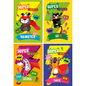 Блокнот на пружине сверху Zibi Kids Line, А6, 40л., Super Heroes, картонная обложка (ZB.12135)