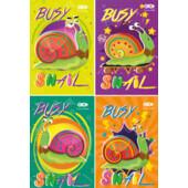 Блокнот на пружине сверху Zibi Kids Line, А7, 40л., Busy Snail, картонная обложка (ZB.12103)