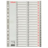 Разделители пластиковые Esselte, РР, А4, цифровые 1-54 (100109)