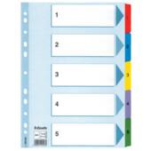 Разделители Esselte картонные А4 1-5 (100160)