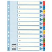 Разделители Esselte картонные А4 1-12 (100162)