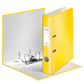 Папка-регистратор Leitz WOW с механизмом 180°, А4 50мм, желтый металлик (1006-00-16)