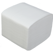Бумага туалетная листовая целюлозная BuroClean, 2-х сл., 150 шт, белый (10100012)