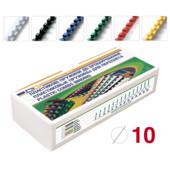 Пружины пластиковые D&A 10 мм 100 шт желтые (1220201100206)