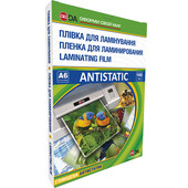 Пленка для ламинирования глянцевая D&A Antistatic 111х154 мм (А6), 100 мкн, 100 шт (11201011008YA)