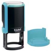 Оснастка для круглой печати Trodat 4642, диам 40 мм, пластик, голубой