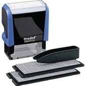 Самонаборный штамп 3-х строчный Trodat Printy 4911, лат, синий