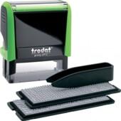 Самонаборный штамп 4-х строчный Trodat Printy 4912, укр, зеленый