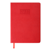 Ежедневник датированный 2022 Buromax AMAZONIA А5 L2U красный 336 с (BM.2114-05)