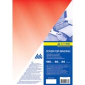 Обложки пластиковые D&A, прозрач, красный, А4, 180 мкн, 100 шт (1220102020600)