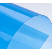 Обложки пластиковые Agent, прозрач, синие, Satin, А4, 400 мкн, 100 шт (1511273)