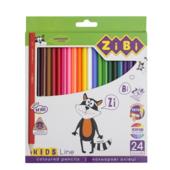 Карандаши цветные ZiBi Kids Line 24 цветов (ZB.2416)