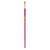 Кисть синтетика, Zibi Cherry 6971, овальная 6, длинная ручка, ART Line (ZB.6971SFBT-6)